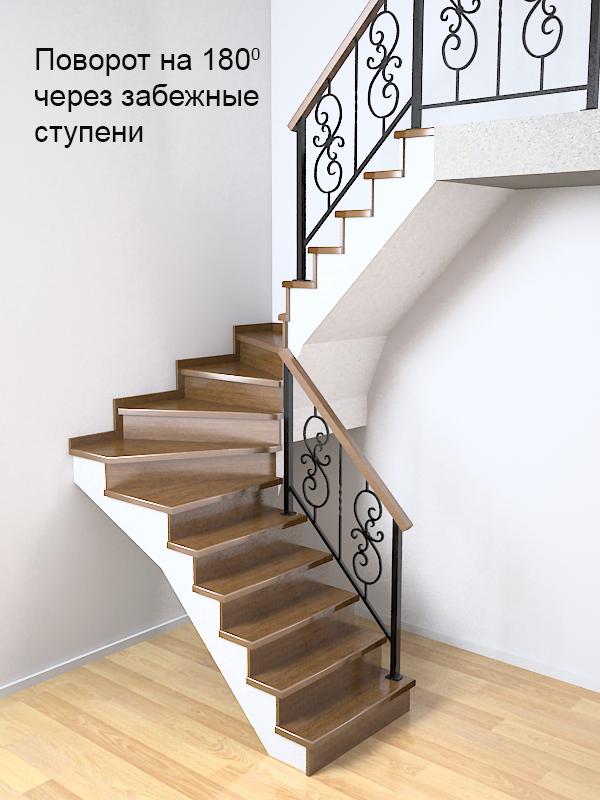 купить готовую п образную лестницу в воронеже Нилова